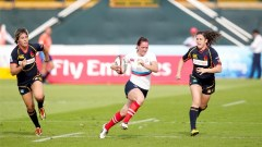 Marina Petrova scored one of Russia's two tries in their 10-10 draw with Spain. Photo: IRB/Martin Seras Lima