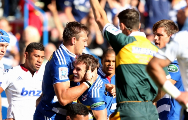 Nic Groom scored the Stormers' first try