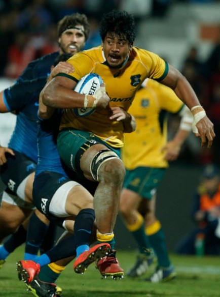 Will Skelton of Australia during a match between Australia and Argentina as part of The Rugby Championship 2015 at Estadio Malvinas Argentinas on July 25, 2015 in Mendoza, Argentina.