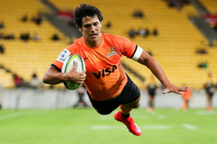 Jaguares Matias Moroni scoring in the 31st minute , the Flying Jaguare !