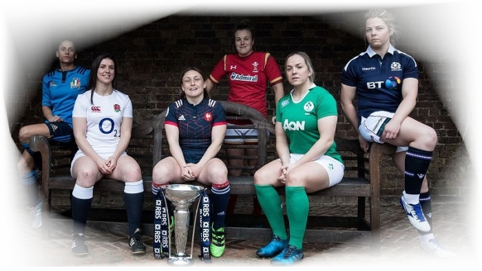 The captains at the 2017 Women's Six Nations launch